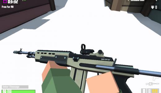 Krunker.ioのセミオートライフル、ダメージは?弾数は?ストッパー的遠距離武器を徹底解説!